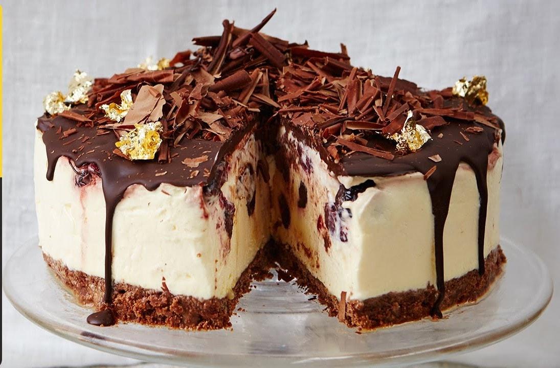 Plain Cake Recipe Jamie Oliver: Black Forest Frozen Cheesecake By Jamie Oliver