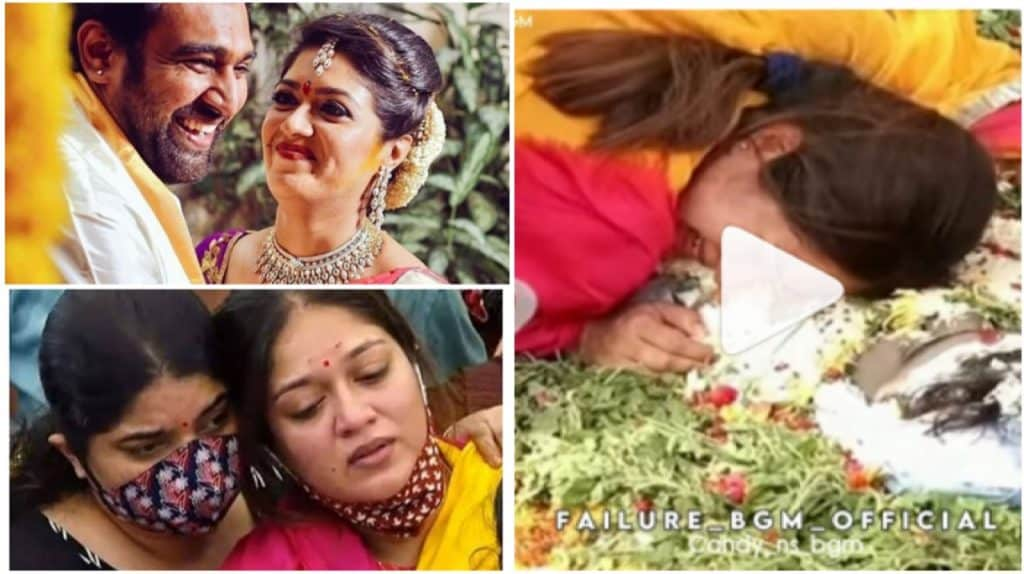 Pregnant Meghna Raj Was Inconsolable As She Bid Goodbye To Her Husband Chiranjeevi Sarja After His Untimely Demise Hungryboo