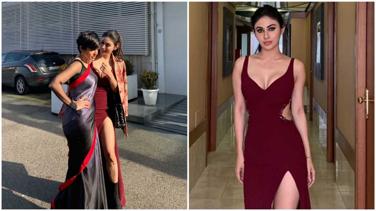 Mouni Roy Showcases Her Lean Leg As She Poses In Her Thigh