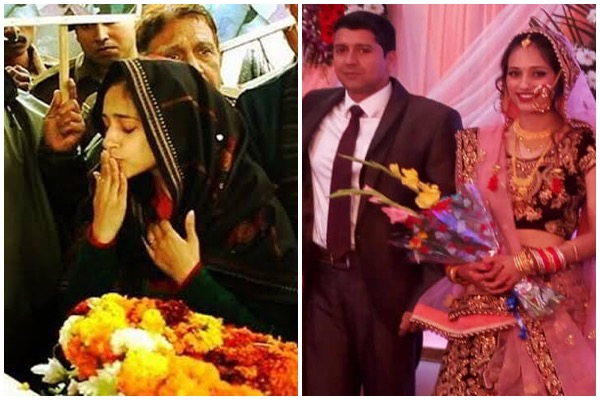 Wife Nikita Kaul Says I Love You For One Last Time During Teary Farewell Of Major  Dhoundiyal, Martyred In Pulwama Encounter - HungryBoo