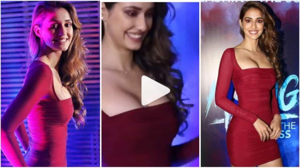 Disha Patani Looks Hot In A Cherry Boycon Dress As She Turns Up For Malang Success Bash Hungryboo